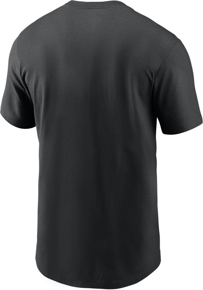 Nike Las Vegas Raiders Black Split Team Name Essential Short Sleeve T Shirt - Image 2