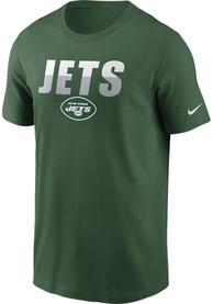 New York Jets Nike Split Team Name Essential T Shirt - Green