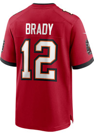 Tom Brady Tampa Bay Buccaneers Nike Home Game Football Jersey - Red