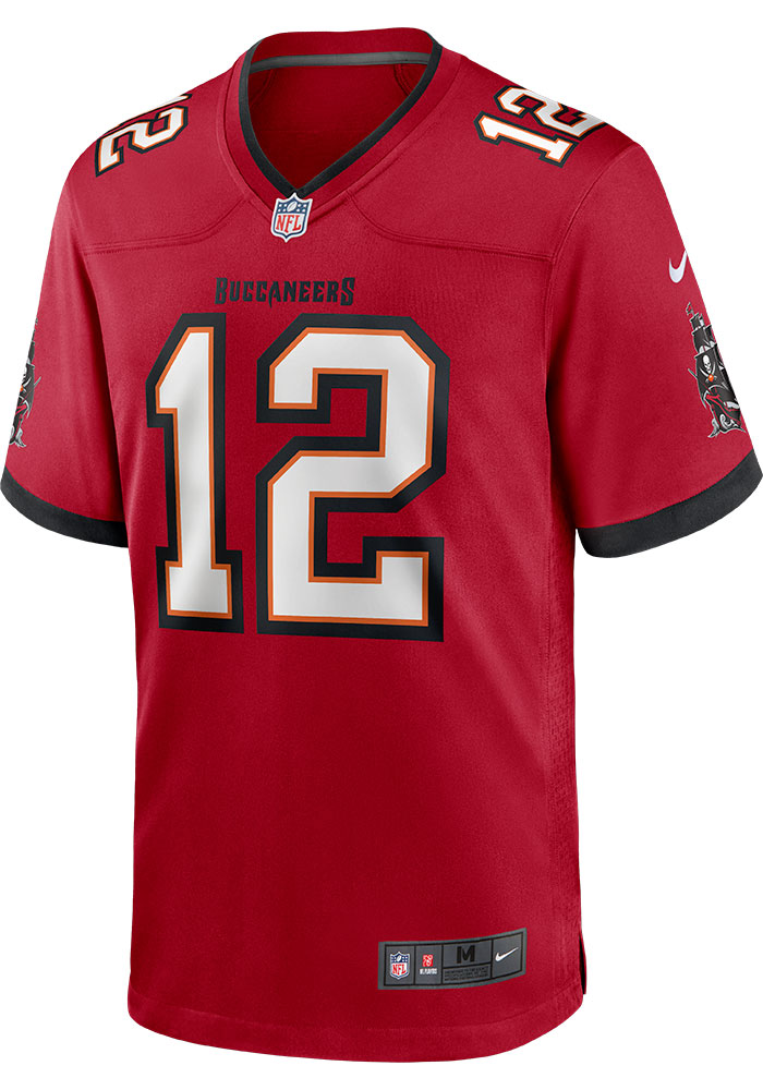 Tom Brady Nike Tampa Bay Buccaneers Red Home Game Football Jersey - Image 2