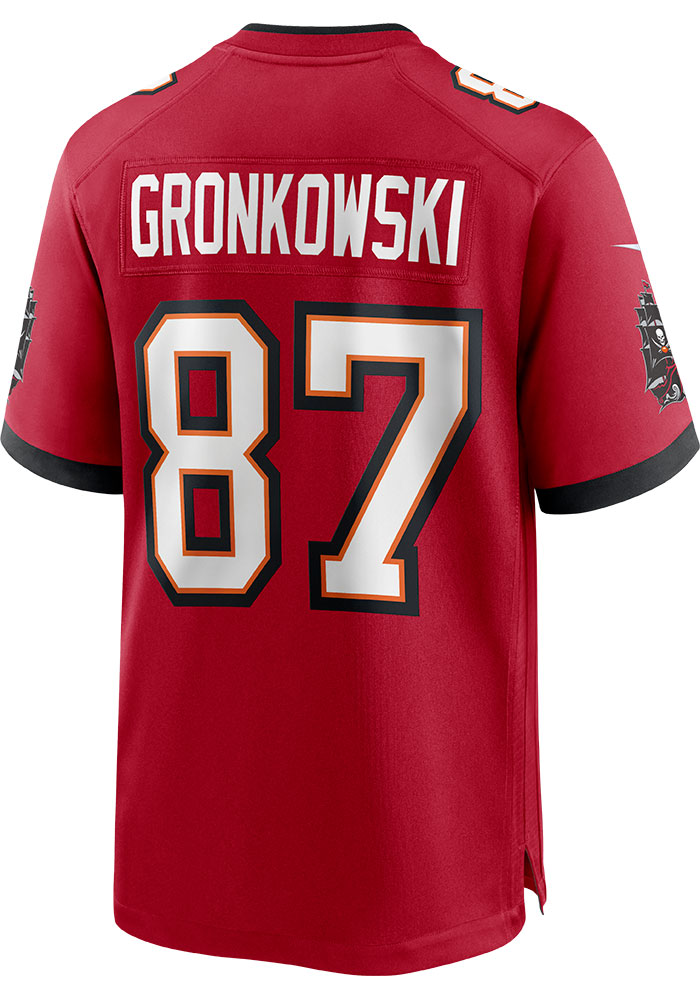 Rob Gronkowski Tampa Bay Buccaneers Nike Home Game Football Jersey - Red