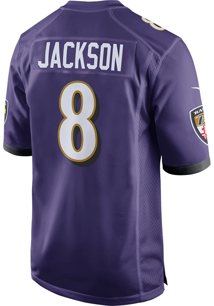 Lamar Jackson Baltimore Ravens Nike Home Game Football Jersey - Purple