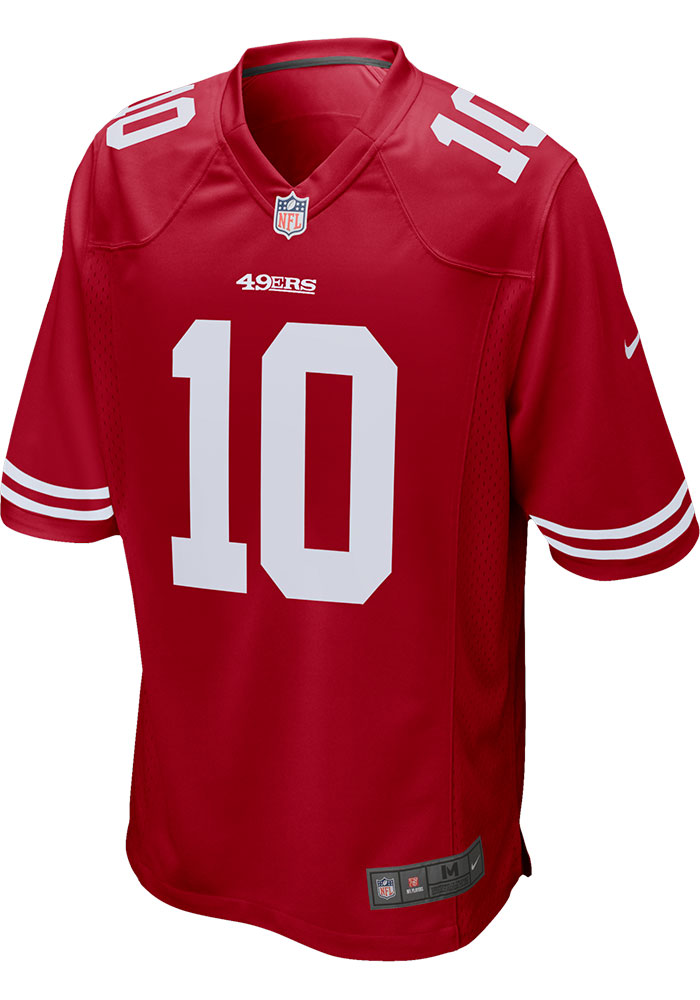 Jimmy Garoppolo Nike San Francisco 49ers Red Home Game Football Jersey - Image 2