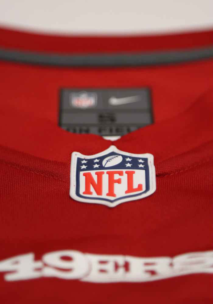 Jimmy Garoppolo Nike San Francisco 49ers Red Home Game Football Jersey - Image 3