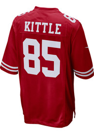 George Kittle San Francisco 49ers Nike Home Game Football Jersey - Red