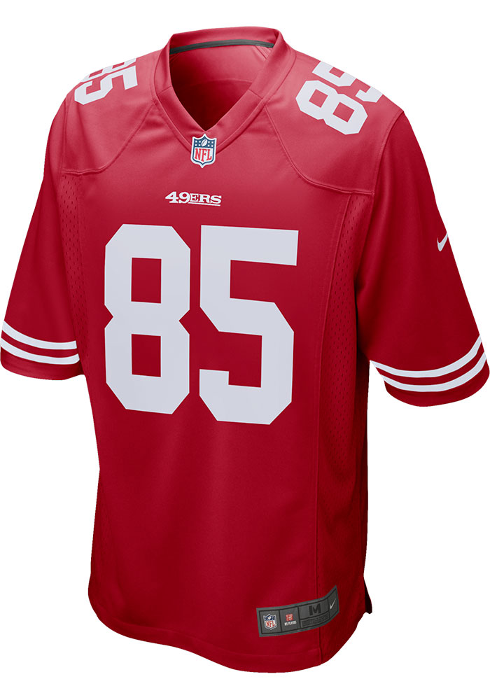George Kittle Nike San Francisco 49ers Red Home Game Football Jersey - Image 2