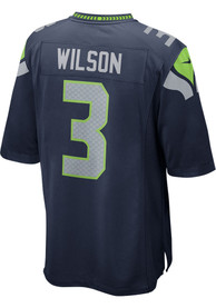 Russell Wilson Seattle Seahawks Nike Home Game Football Jersey - Navy Blue
