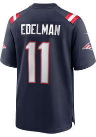 Julian Edelman New England Patriots Nike Home Game Football Jersey - Navy Blue