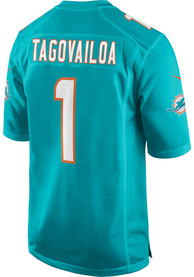 Tua Tagovailoa Miami Dolphins Nike Home Game Football Jersey - Teal