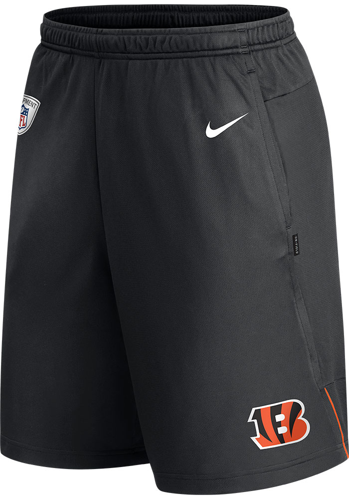 Nike Cincinnati Bengals Mens Black Coach Knit Shorts - Image 1