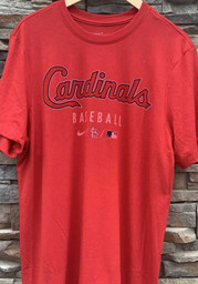 St Louis Cardinals Nike Early Work Fashion T Shirt - Red
