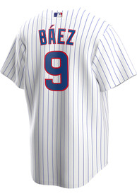Javier Baez Chicago Cubs Nike 2020 Home Replica - White