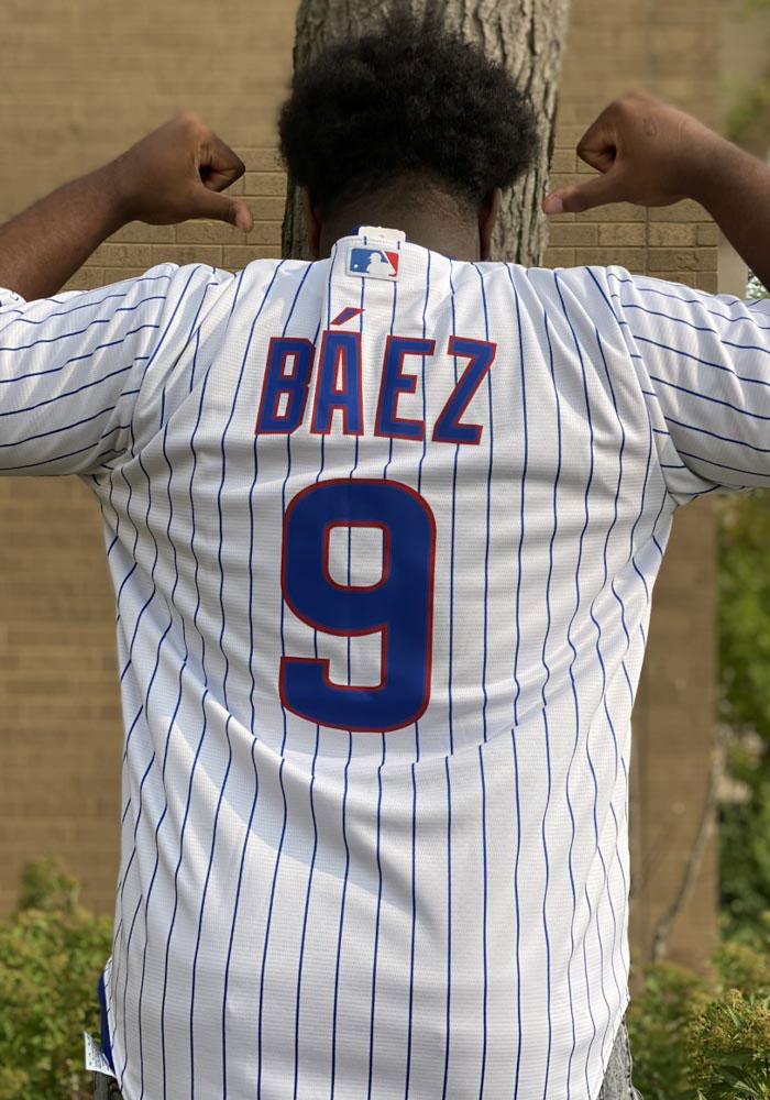 Javier Baez Chicago Cubs Mens Replica 2020 Home Jersey - White - 17321151