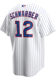Kyle Schwarber Chicago Cubs Nike 2020 Home Replica - White