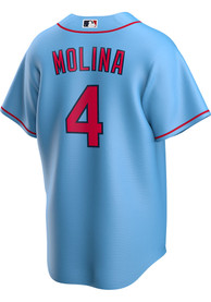 Yadier Molina St Louis Cardinals Nike 2020 Alternate Replica - Light Blue