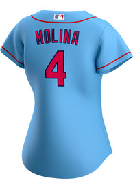 Yadier Molina St Louis Cardinals Womens Nike 2020 Alternate Replica - Light Blue