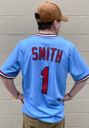 St Louis Cardinals Ozzie Smith Nike Throwback Cooperstown Jersey - Light Blue