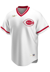 Cincinnati Reds Nike Throwback Cooperstown Jersey - White