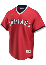 Cleveland Indians Nike 75-76 Alternate Throwback Cooperstown Jersey - Red