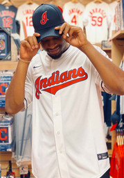Cleveland Indians Mens Nike Replica 2020 Home Jersey - White