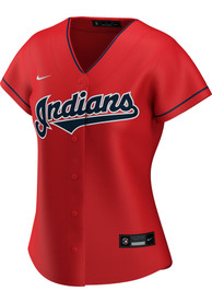 Cleveland Indians Womens Nike 2020 Alternate Replica - Red