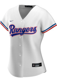 Texas Rangers Womens Nike 2020 Home Replica - White