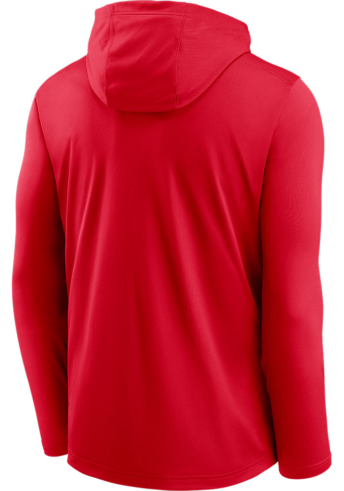 Nike Kansas City Chiefs Mens Red Name Stack Long Sleeve Hoodie - Image 2