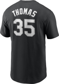 Frank Thomas Chicago White Sox Nike Name And Number T-Shirt - Black