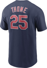Jim Thome Cleveland Indians Nike Coop Name and Number T-Shirt - Navy Blue