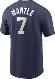 Mickey Mantle New York Yankees Nike Coop Name and Number T-Shirt - Navy Blue