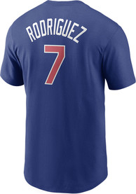 Ivan Rodriguez Texas Rangers Nike Name And Number T-Shirt - Blue