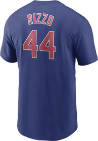 Anthony Rizzo Chicago Cubs Nike Name And Number T-Shirt - Blue