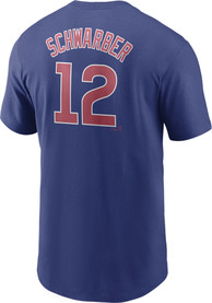 Kyle Schwarber Chicago Cubs Nike Name And Number T-Shirt - Blue