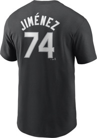 Eloy Jimenez Chicago White Sox Nike Name Number T-Shirt - Black