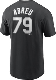 Jose Abreu Chicago White Sox Nike Name And Number T-Shirt - Black