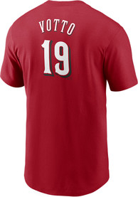 Joey Votto Cincinnati Reds Nike Name And Number T-Shirt - Red