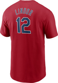 Francisco Lindor Cleveland Indians Nike Name And Number T-Shirt - Red