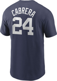 Miguel Cabrera Detroit Tigers Nike Name And Number T-Shirt - Navy Blue