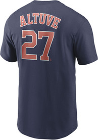 Jose Altuve Houston Astros Nike Name And Number T-Shirt - Navy Blue