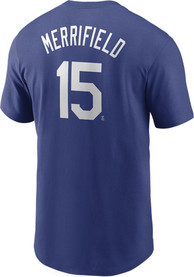 Whit Merrifield Kansas City Royals Nike Name And Number T-Shirt - Blue