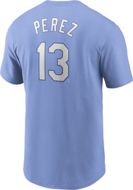 Salvador Perez Kansas City Royals Nike Name And Number T-Shirt - Light Blue