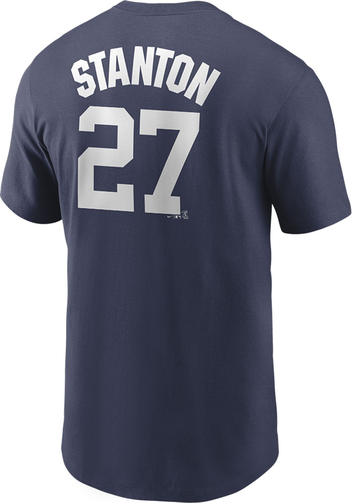 Giancarlo Stanton New York Yankees Nike Name And Number T-Shirt - Navy Blue