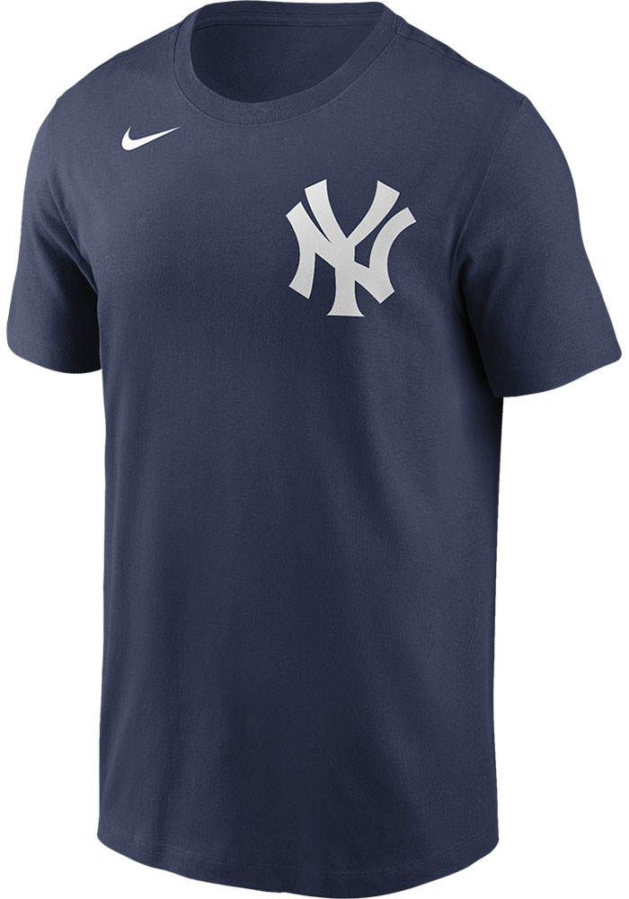 Giancarlo Stanton New York Yankees Navy Blue Name And Number Short Sleeve Player T Shirt - Image 2
