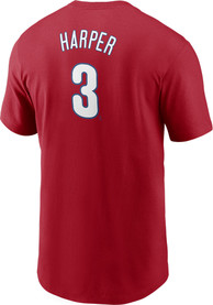 Bryce Harper Philadelphia Phillies Nike Name And Number T-Shirt - Red
