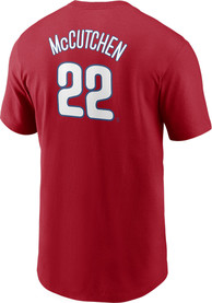 Andrew McCutchen Philadelphia Phillies Nike Name And Number T-Shirt - Red