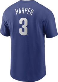 Bryce Harper Philadelphia Phillies Nike Name And Number T-Shirt - Blue