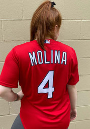 Yadier Molina St Louis Cardinals Nike Name And Number T-Shirt - Red