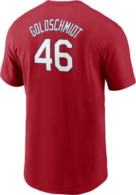 Paul Goldschmidt St Louis Cardinals Nike Name And Number T-Shirt - Red