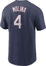 Yadier Molina St Louis Cardinals Nike Name And Number T-Shirt - Navy Blue