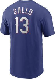 Joey Gallo Texas Rangers Nike Name And Number T-Shirt - Blue